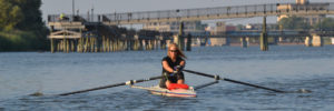 Sculling in a single